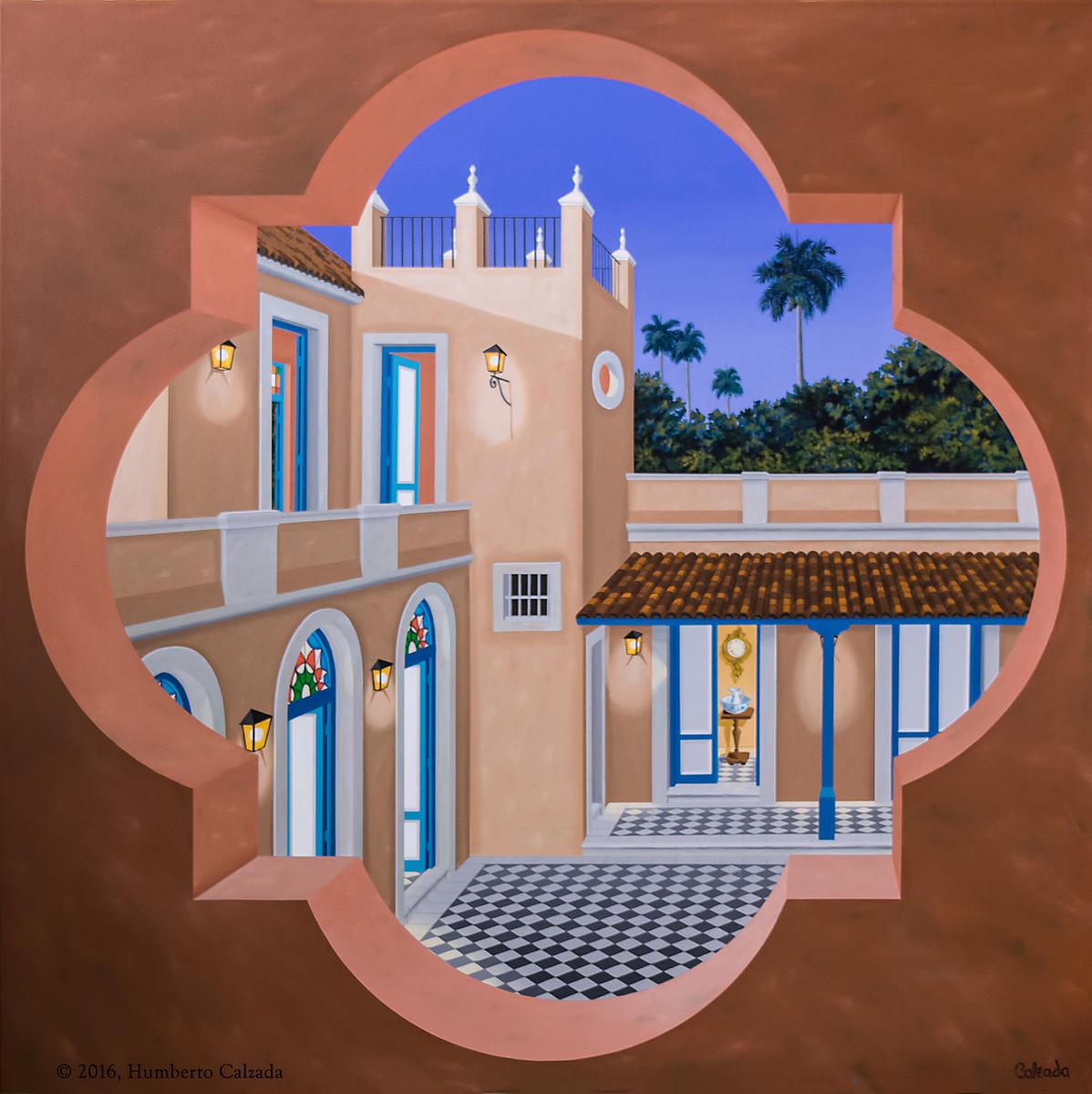 """Penultima Morada III (Next to the Last Home III) Acrylic on Canvas, 48"""" x 48""""  2016"""