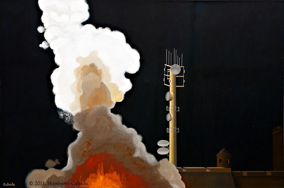 """The Annunciation, Acrylic on Canvas, 48"""" x 72""""  2011"""