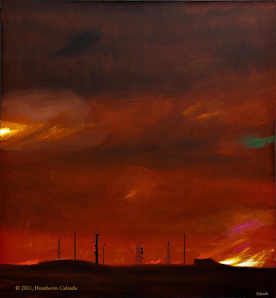 """the Splendor in Desolation, Acrylic on Canvas, 55"""" x 51""""  2011"""