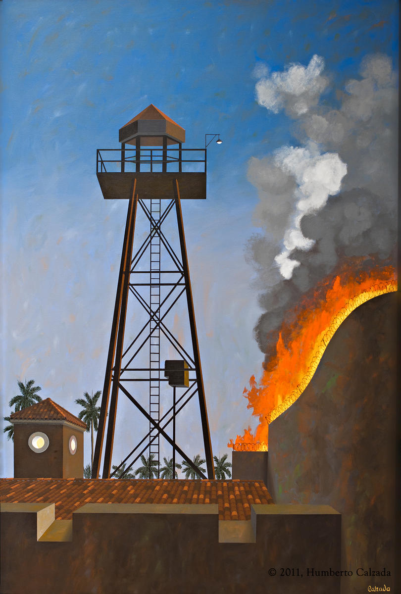 "The Watchtower, Acrylic on Canvas, 72"" x 48""   2011"