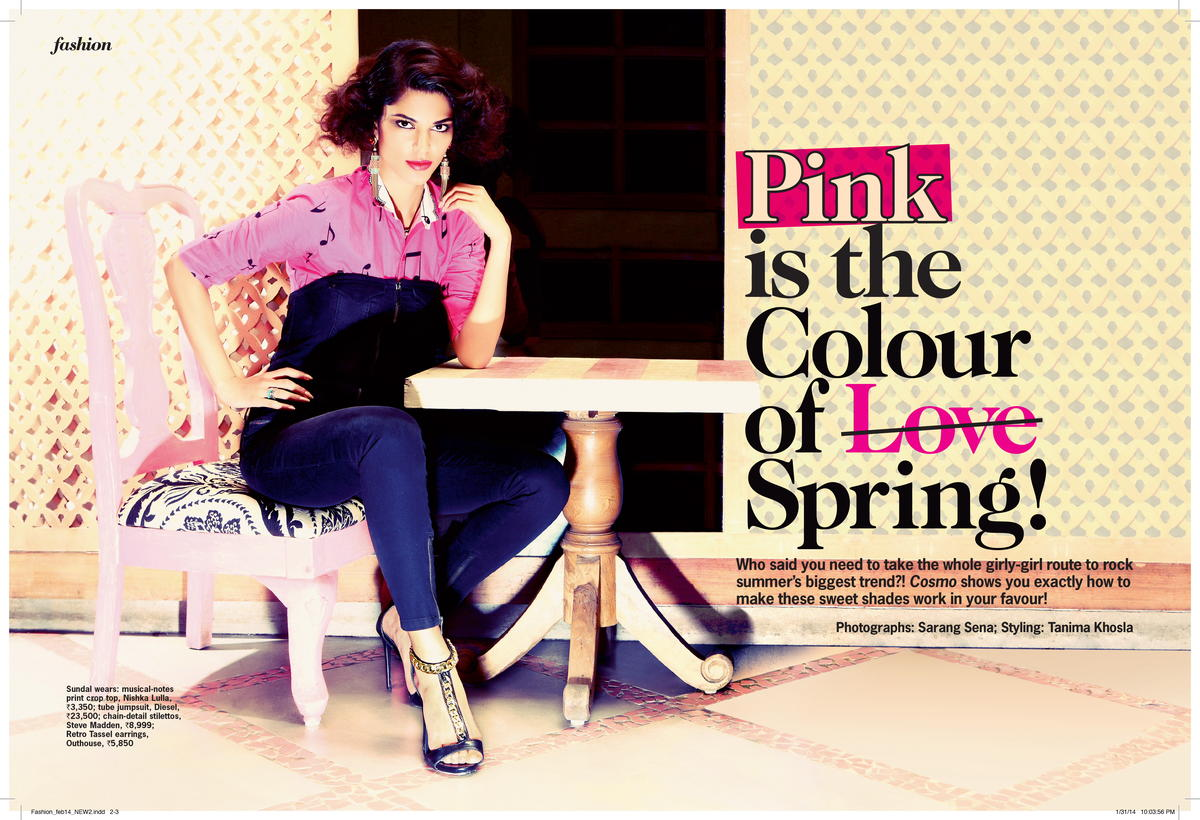 Pink is the Colour of Love- Cosmopolitan