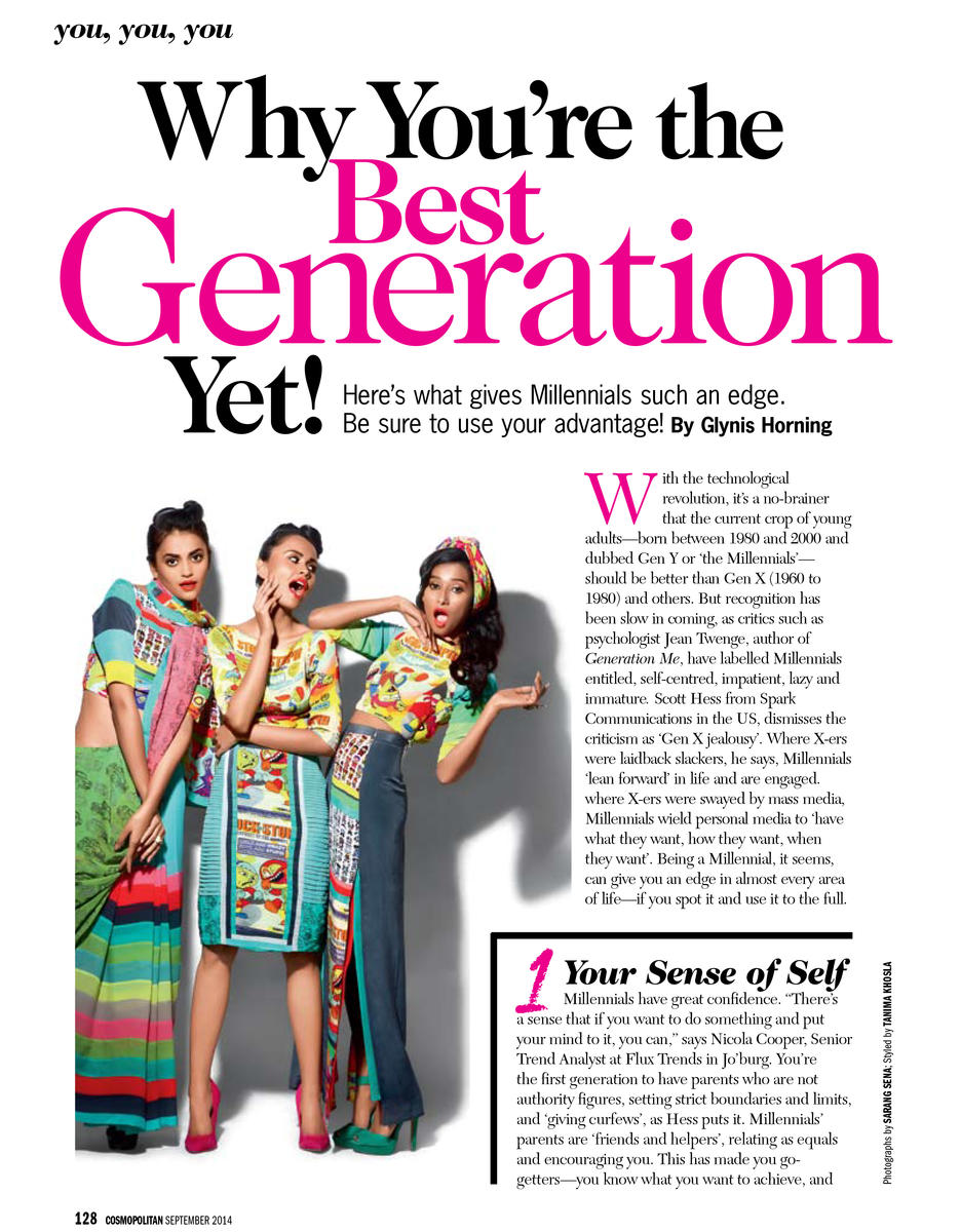 Best Generation Yet- Cosmopolitan Magazine