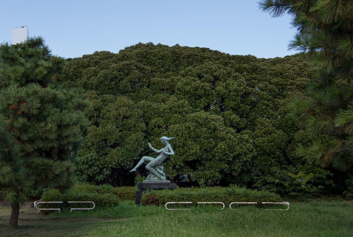 Harumifuto Park statue