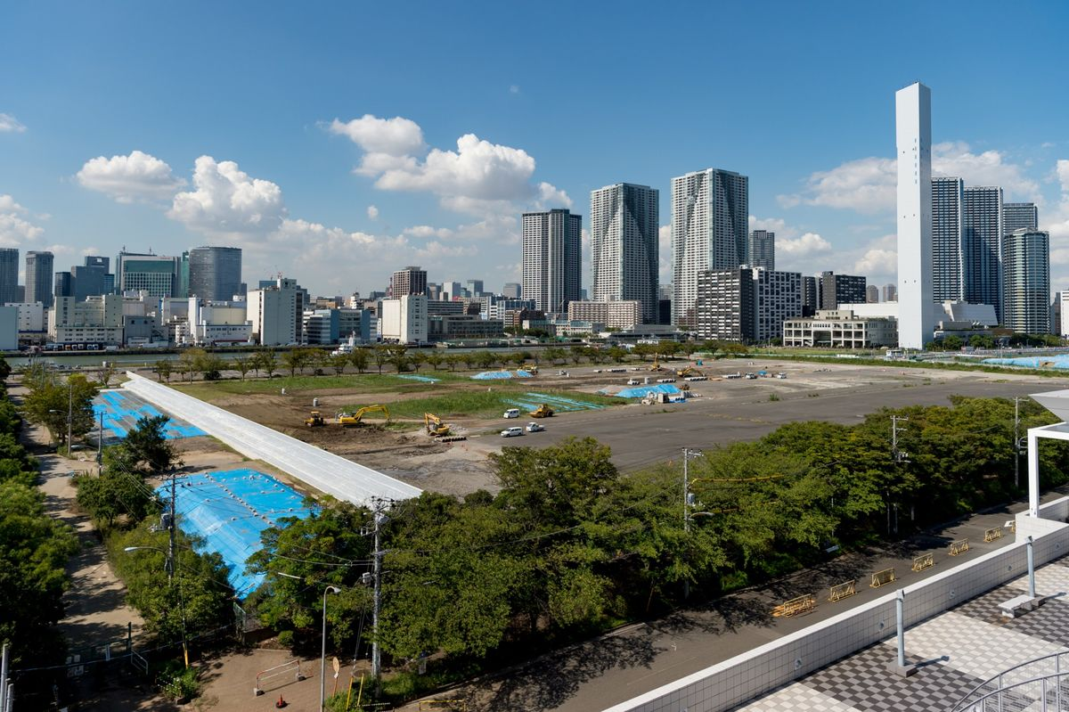 View over the Olympic Village and Northern Harumi