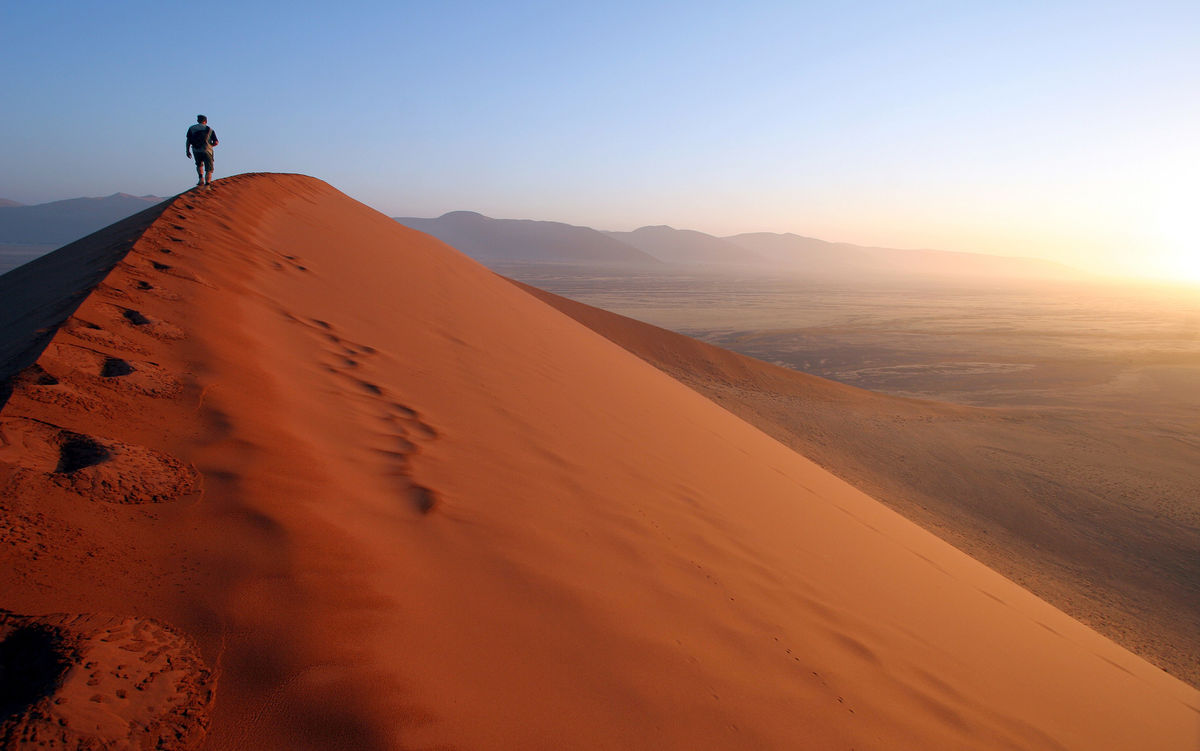 Dawn on Dune 45, Sossusvlei, Namibia