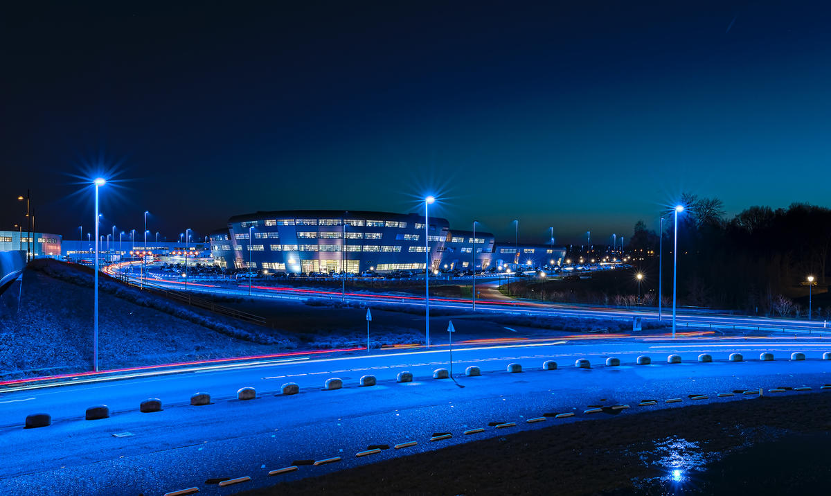 Eindhoven Airport blue Led