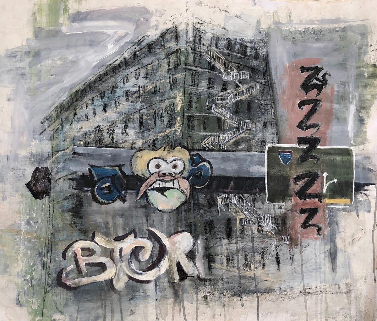 zzzzz, 2019, mixed media