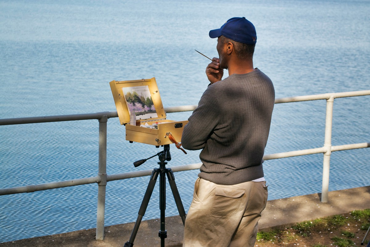 Painting the Jefferson Memorial