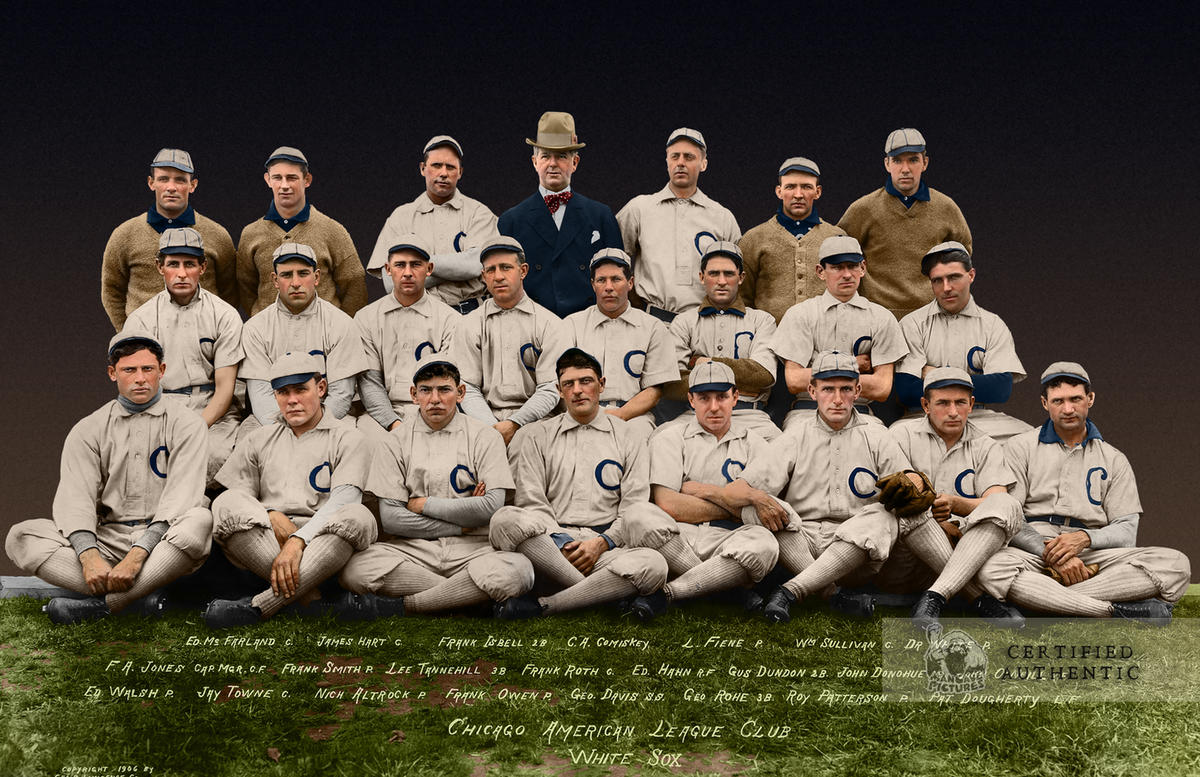 "Chicago White Sox - World Series Champions (1906) - ""the Hitless Wonders"""