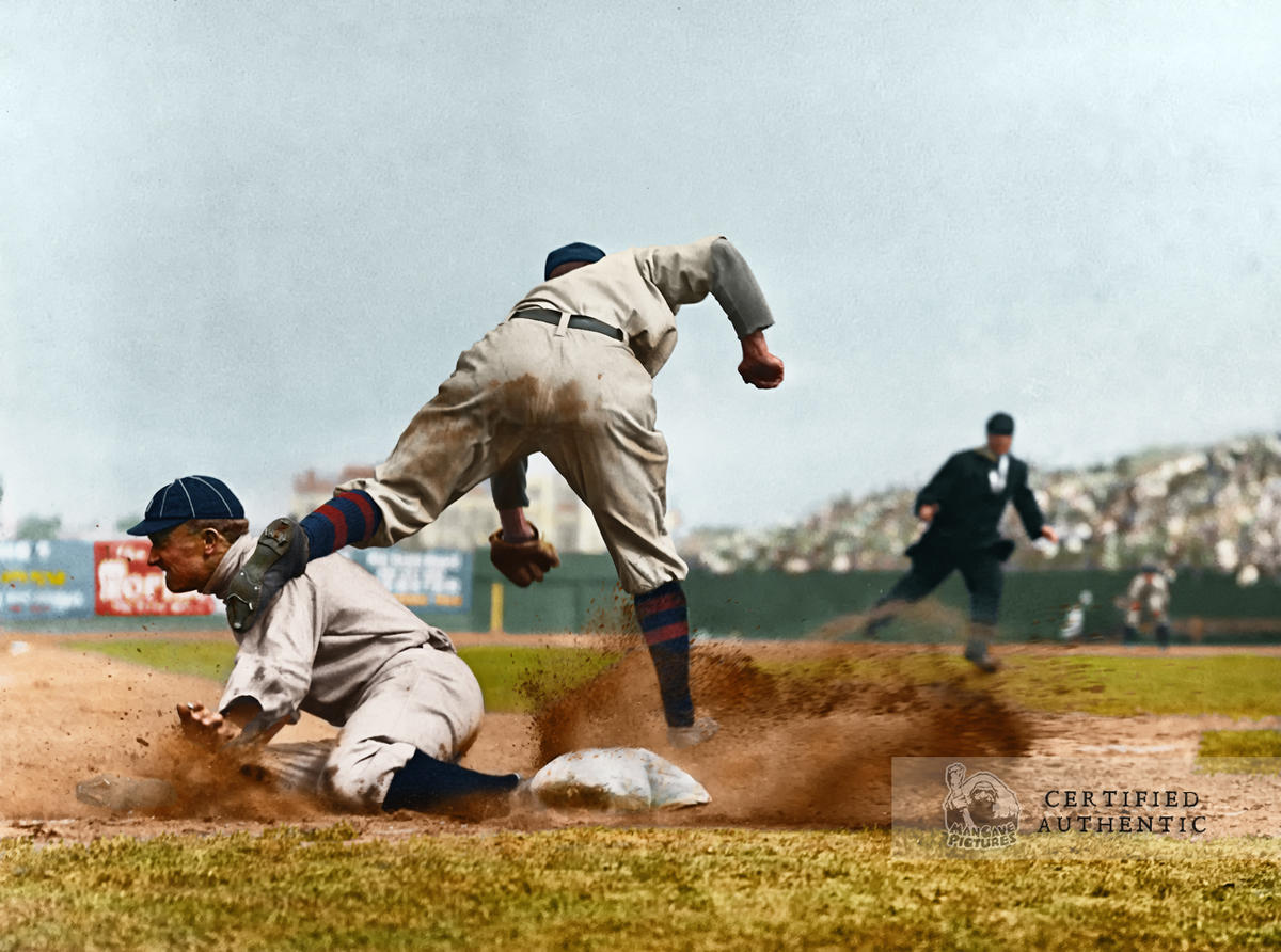 Ty Cobb (Sliding) - Detroit Tigers (1910)