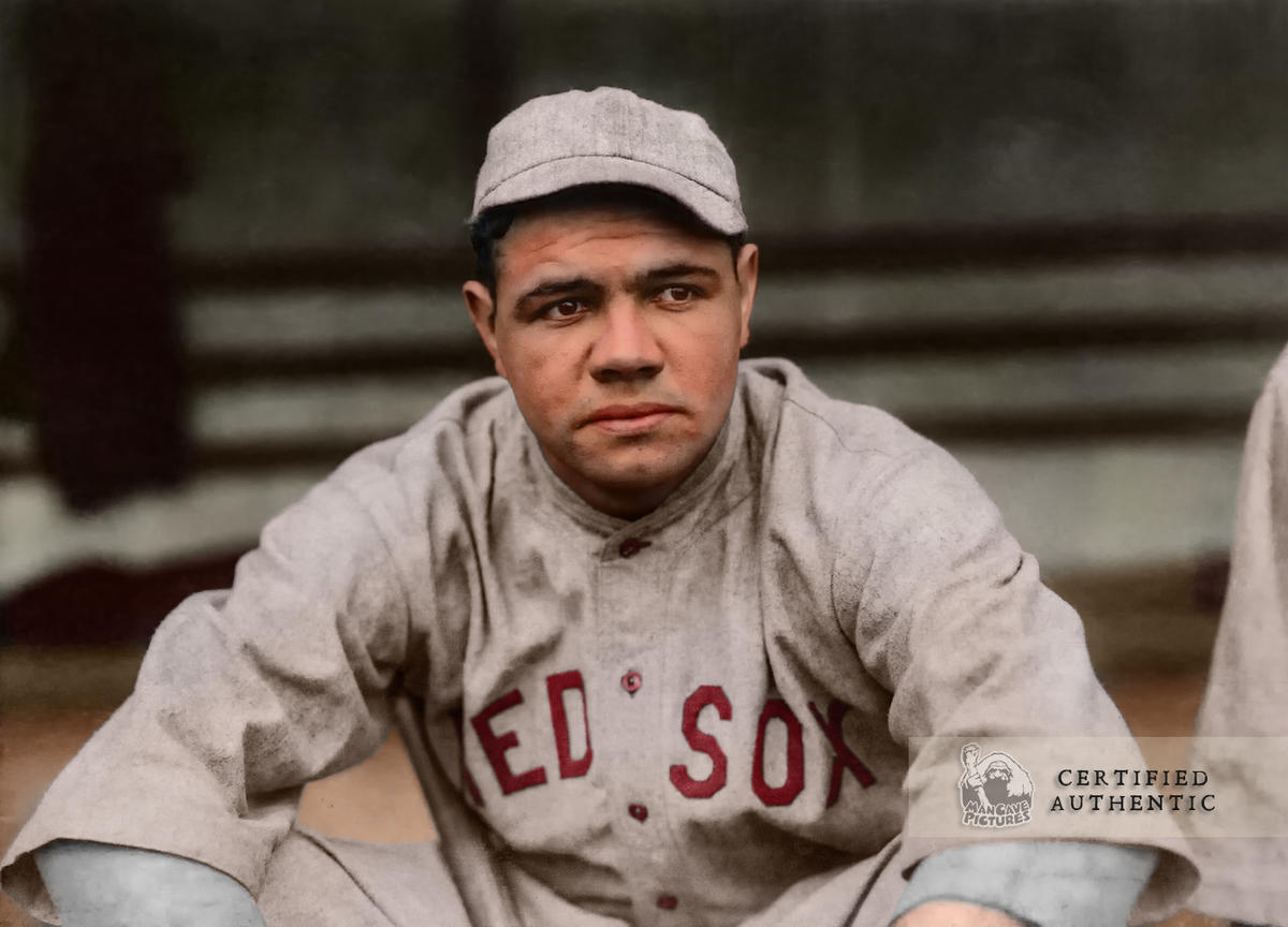 Babe Ruth - In his Rookie Season with the Boston Red Sox (1915)