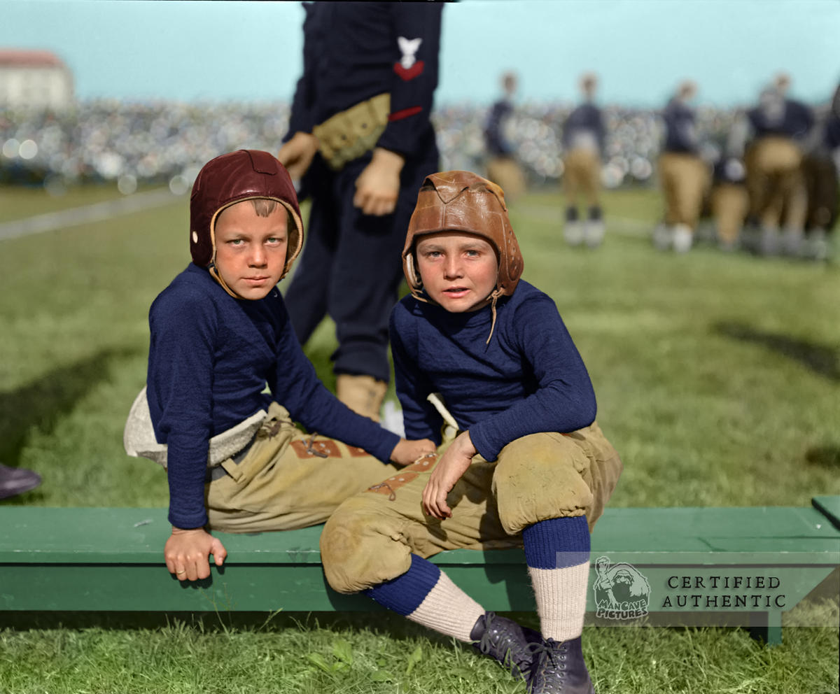 Young Lads at Navy Football Game - Annapolis, MD (1924)