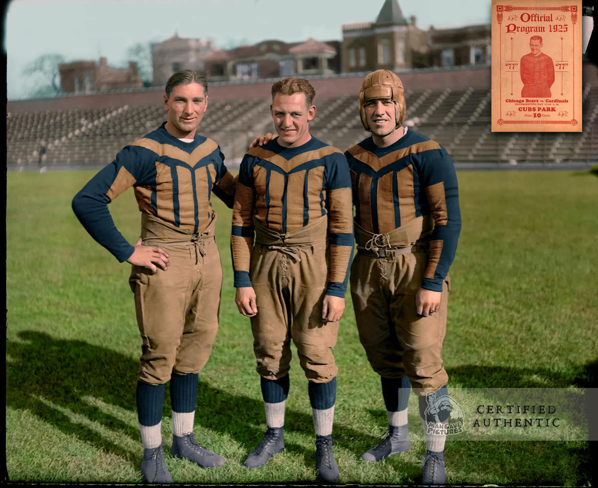 Frank Hanny, Red Grange, Bob McMillen - Chicago Bears (1925)