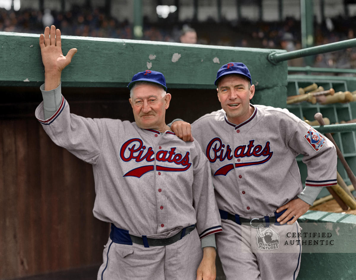 Honus Wagner & Pie Traynor - Pittsburgh Pirates (1939) © 1939 Leslie Jones