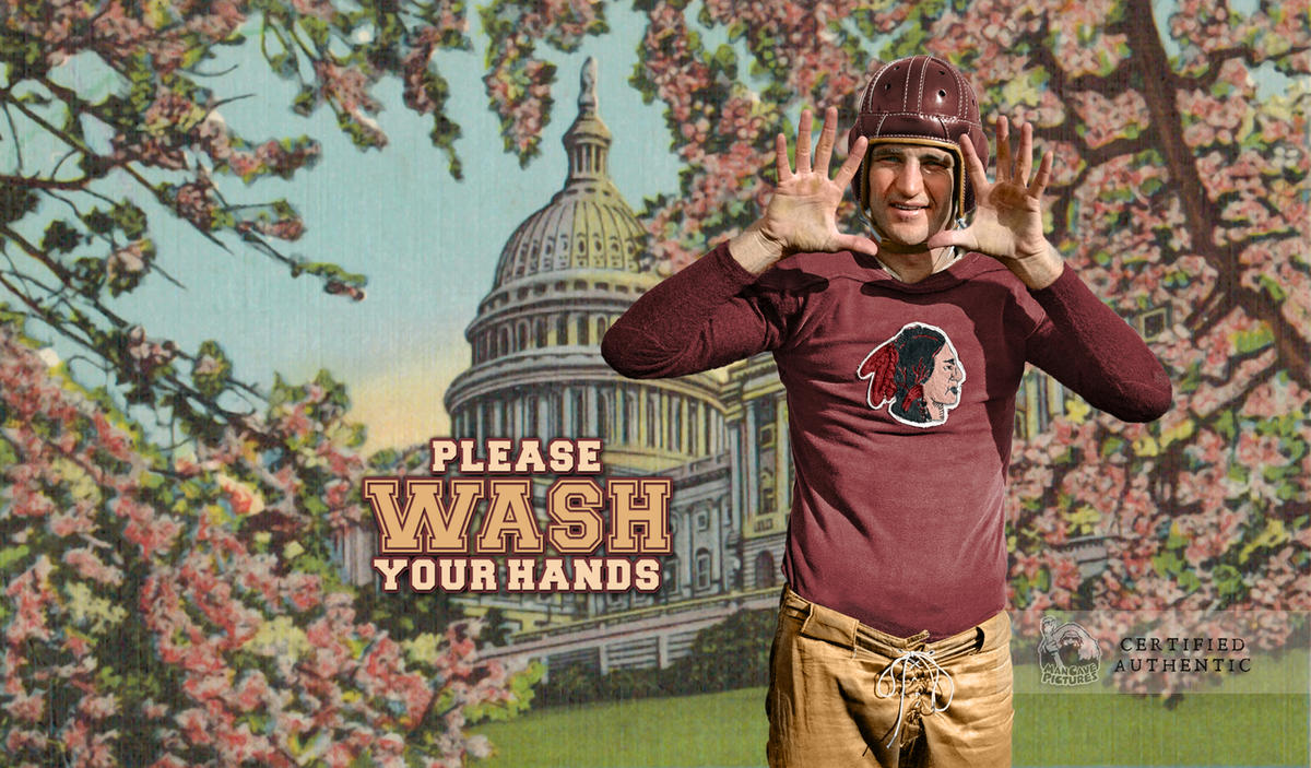Sammy Baugh (cutout graphic) - Washington Redskins (1937)