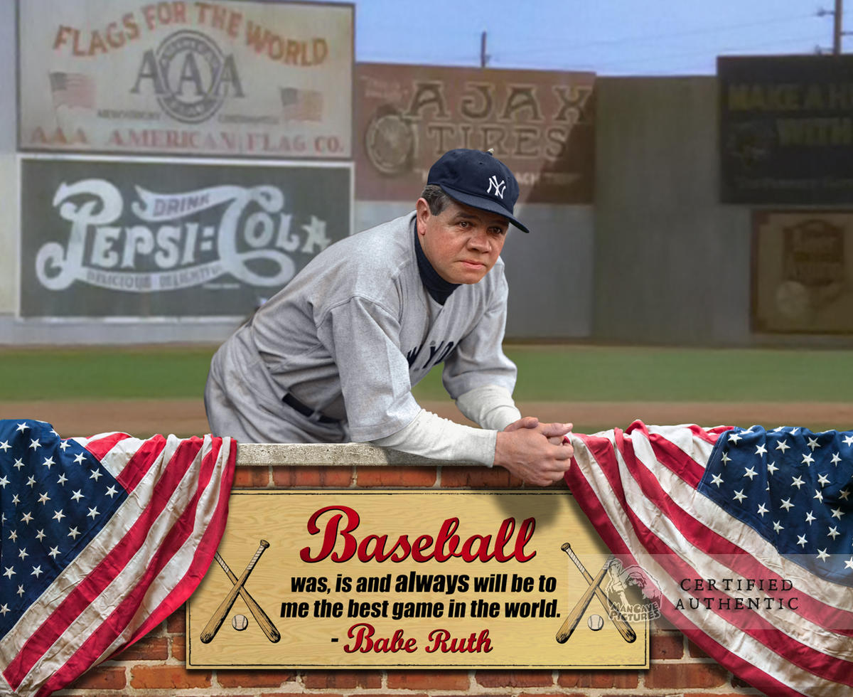 Custom Babe Ruth (1933) Graphic Montage