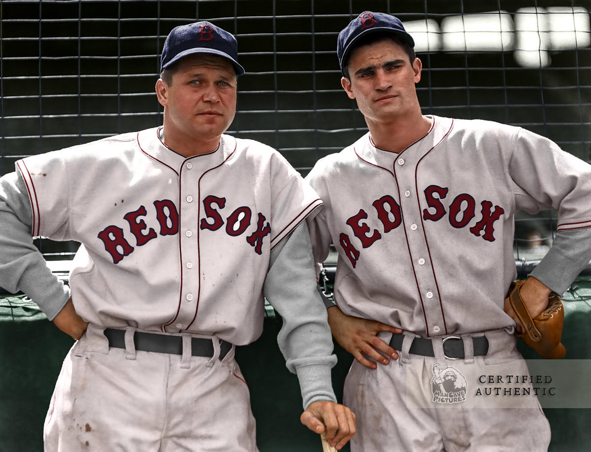 Jimmie Foxx and Bobby Doerr - Boston Red Sox (c.1940)