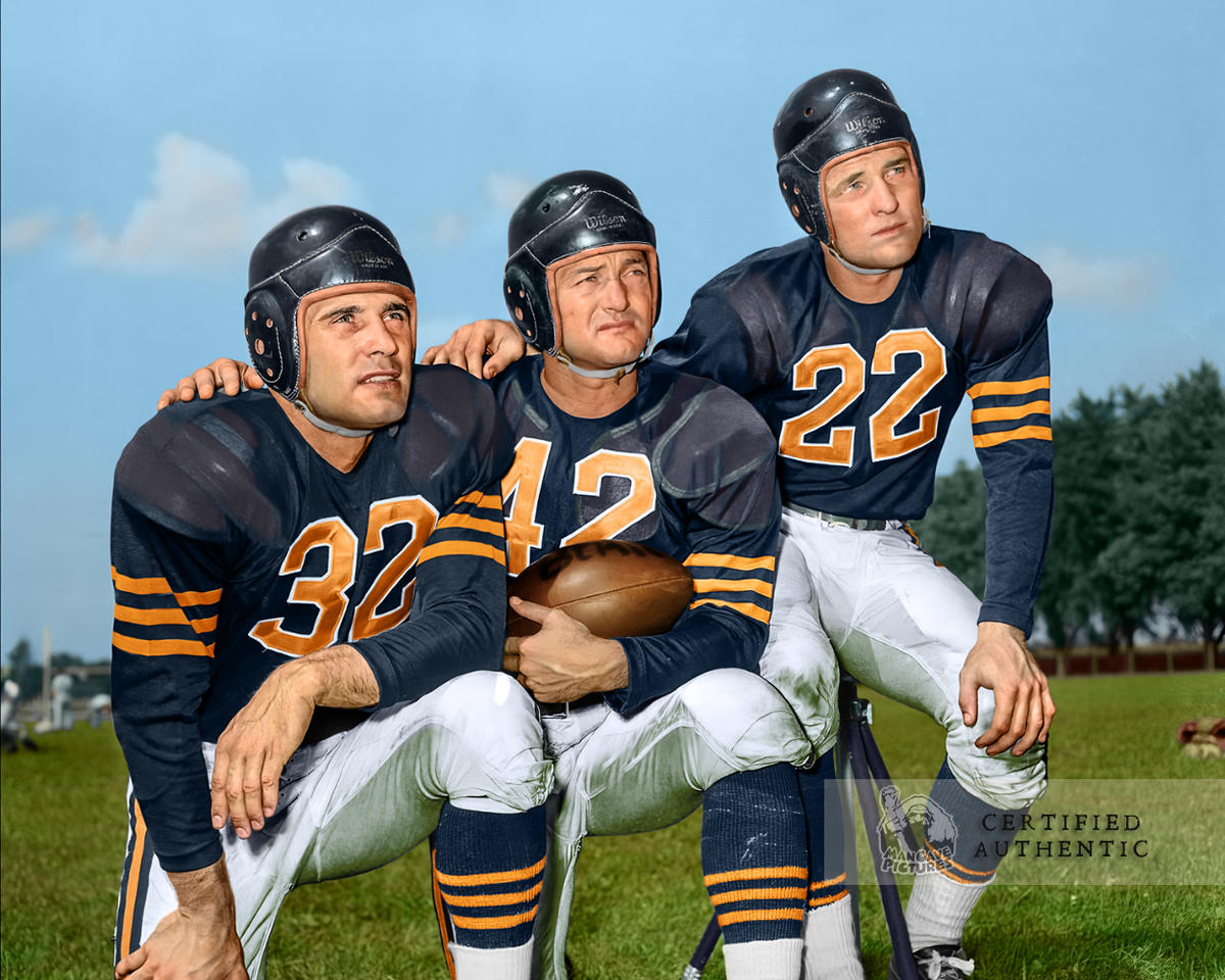 Johnny Lujack, Sid Luckman, and Bobby Layne - Chicago Bears (1948)