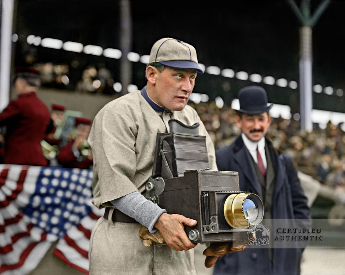 Germany Schaefer playing with a Camera - Washington Senators (1911)