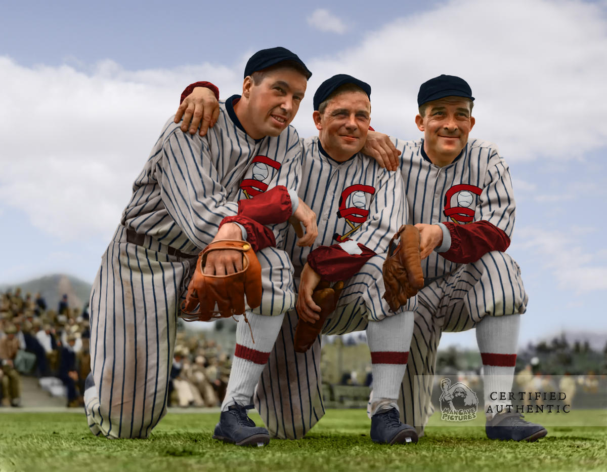 Mule Haas, Jimmy Dykes, and Al Simmons - Chicago White Sox (1933)