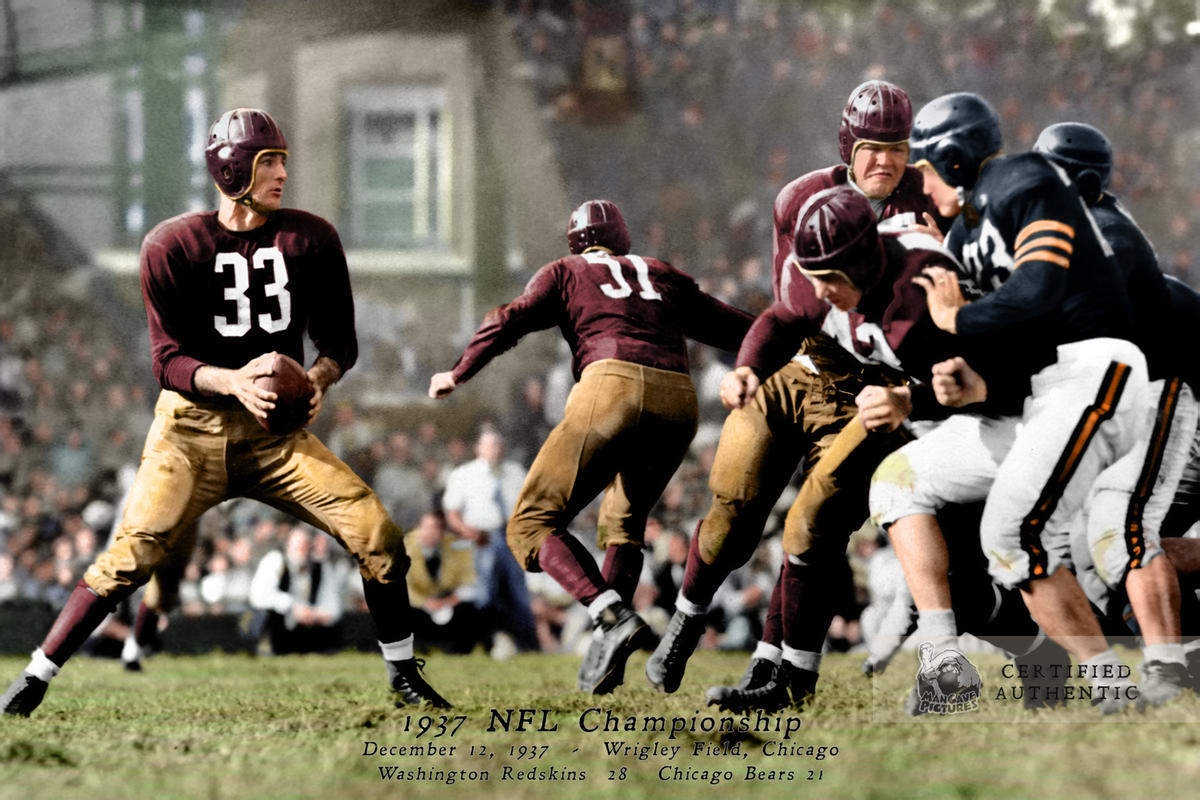 1937 NFL Championship - Sammy Baugh #33 and Washington vs. Chicago