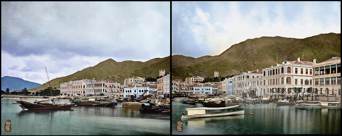 Hong Kong Waterfront, Looking East, 1869