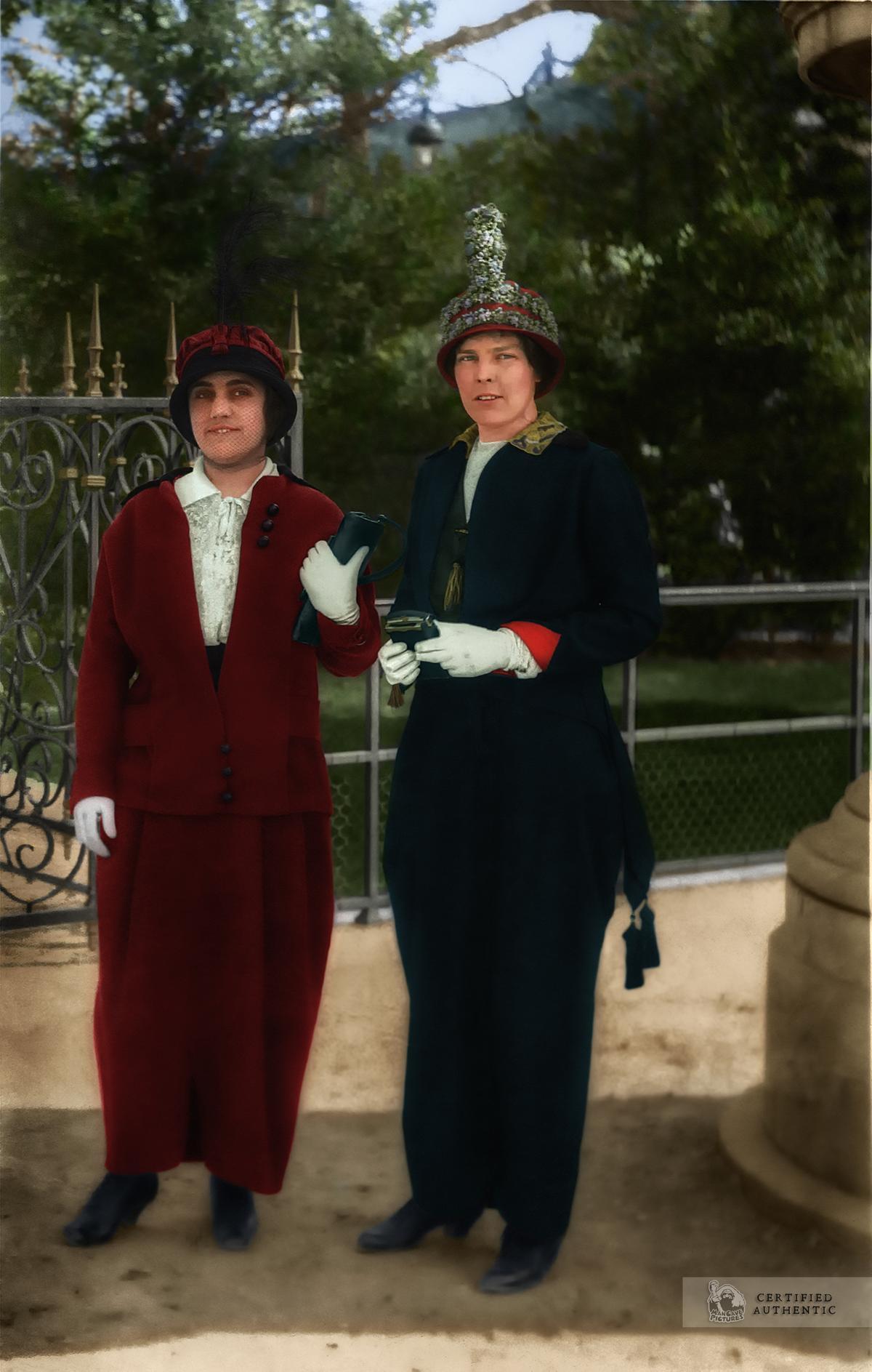 American ladies at the Jardin des Tuileries, Paris, 1913