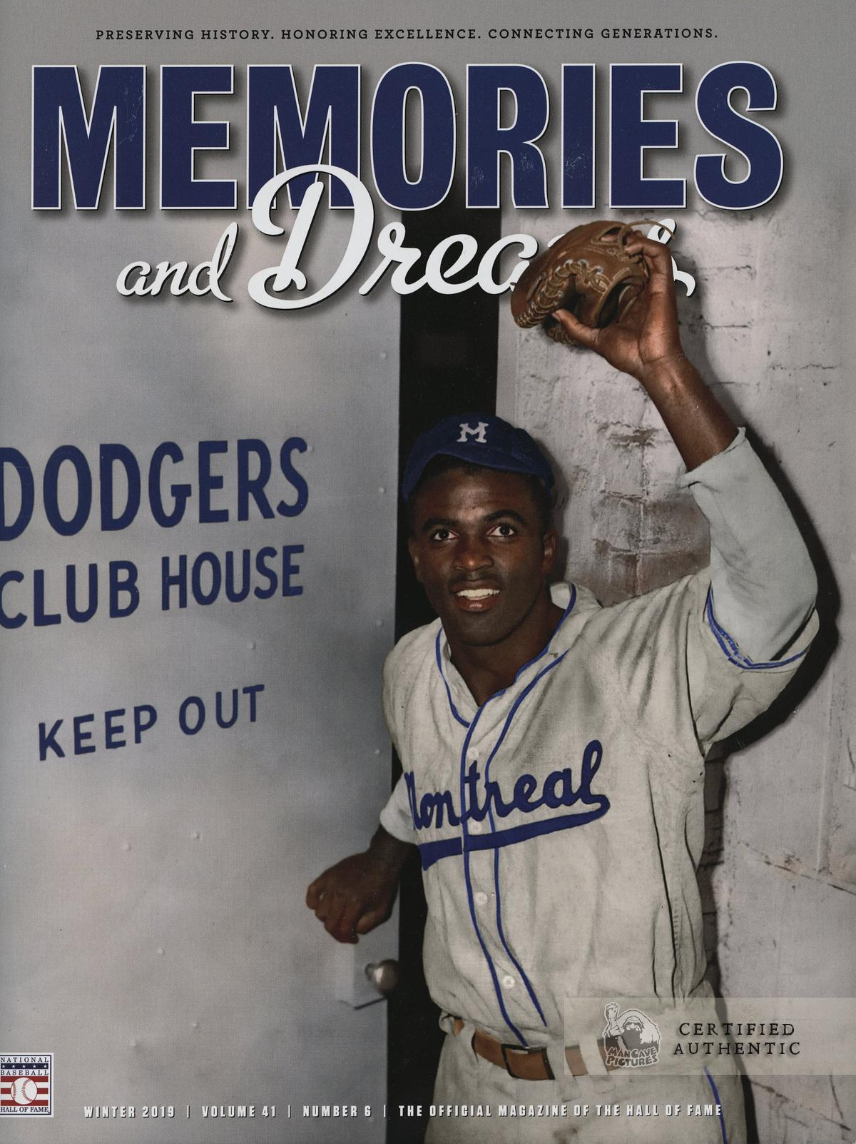 Jackie Robinson 1947, HOF Memories & Dreams Magazine Cover (Nov 2019)