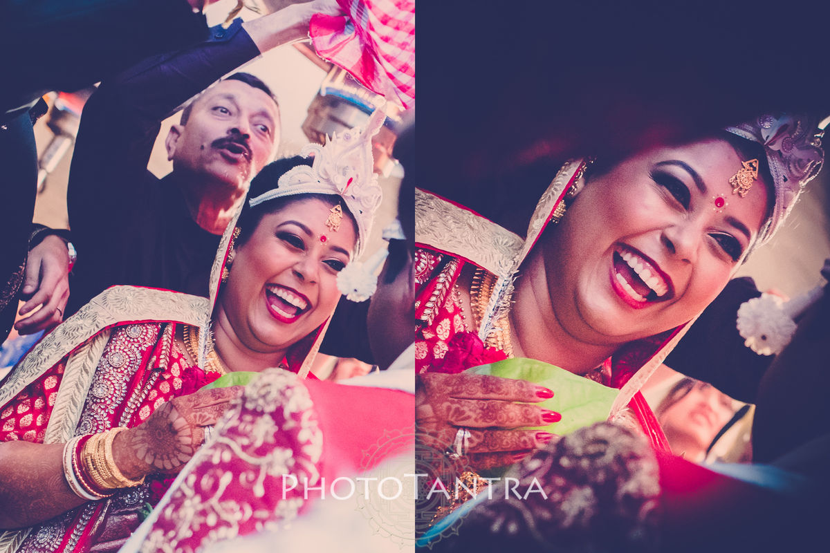 Candid Wedding Photography in Delhi: Shlipi + Ashish's Bengali and Christaian Wedding Photography