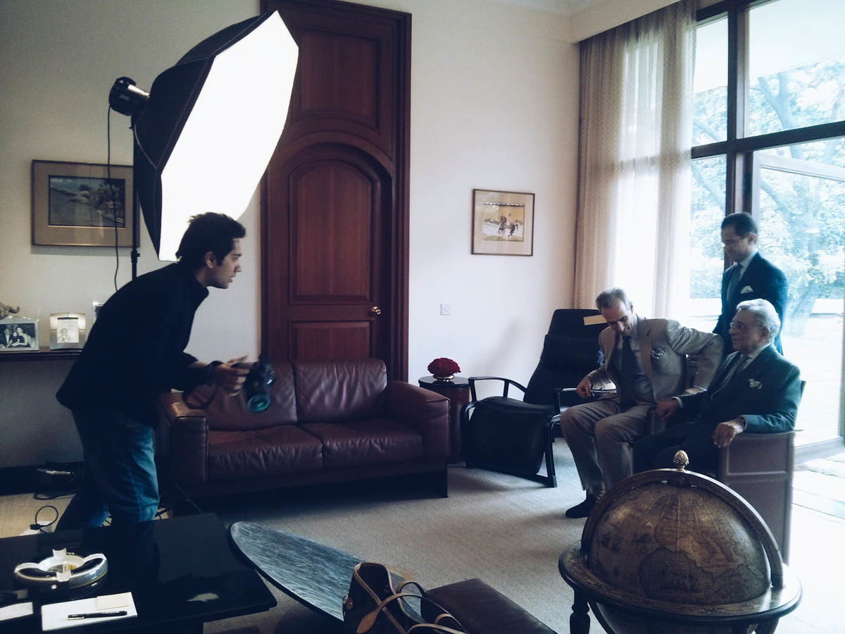 Photographing Oberois for Vanity Fair