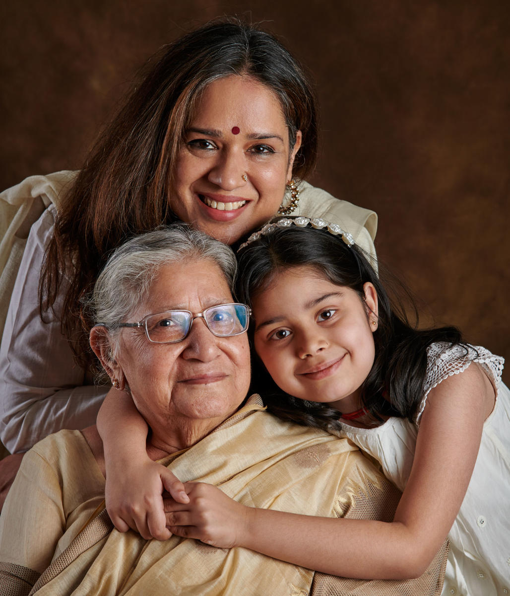 Manjari Chaturvedi, the mystical Sufi Kathak dancer, with her daughter, Naazo Mehra and Mom, Sudha Chaturvedi ...