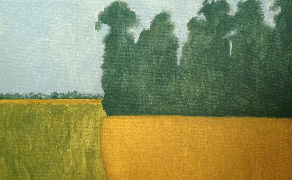 Bank of trees, Swyncombe, oil on canvas