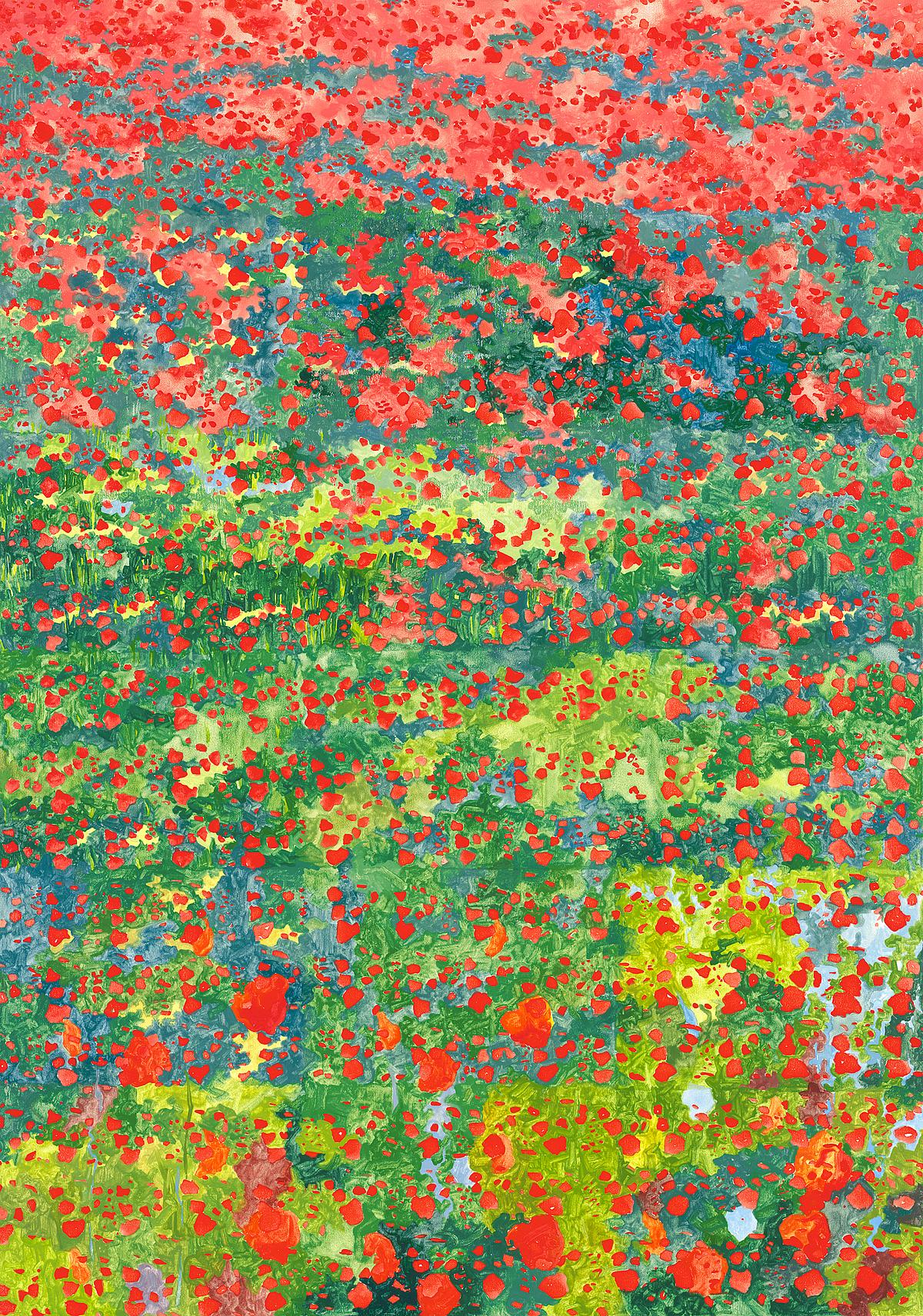 Poppies, L Glover, 2014, SOLD