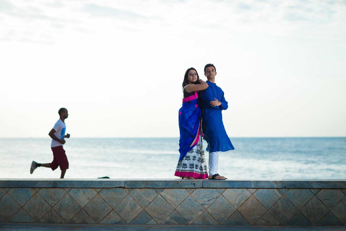 Ambika and Karthik - Portraits session in Puducherry