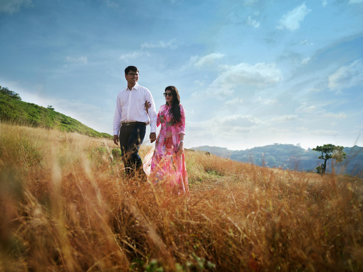 Nikita and Ankit in Amby Valley