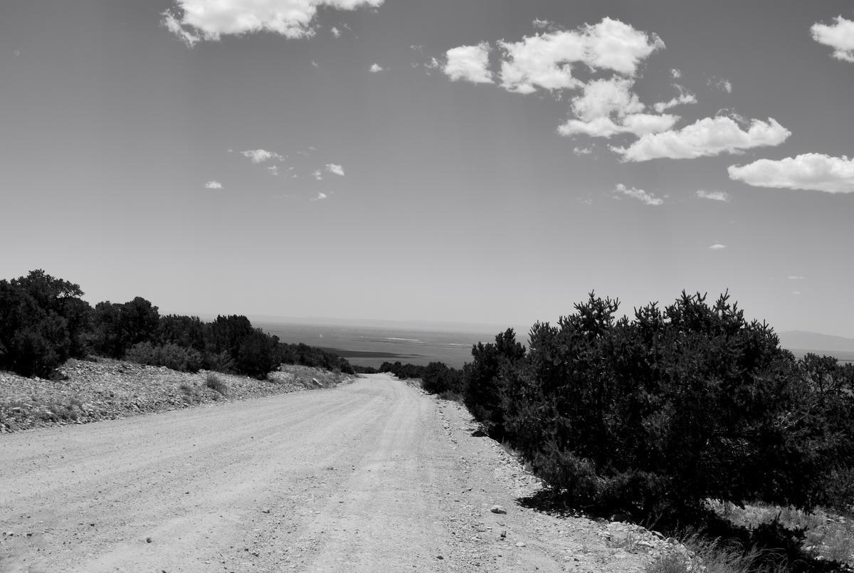 gravel road to Zapata Falls