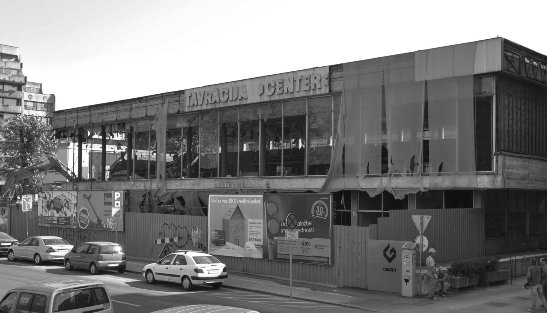 Restavracija Center, Maribor . demolition (2011) of minimalistic modernistic public building