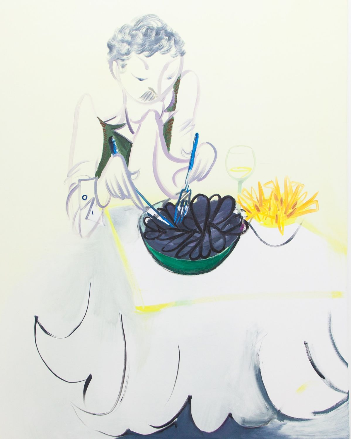 Mussels, 2016, 122 x 152 cm, oil on canvas