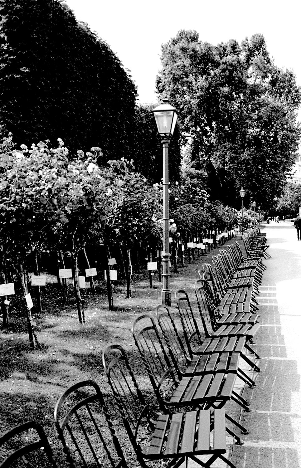Lamppost by Chairs, Vienna 2017   Edition 1 of 2