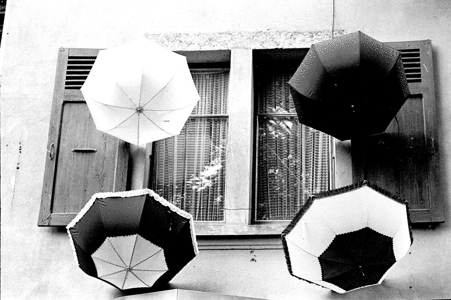 Window Umbrellas, Yvoire, France 2017   Edition 1 of 2