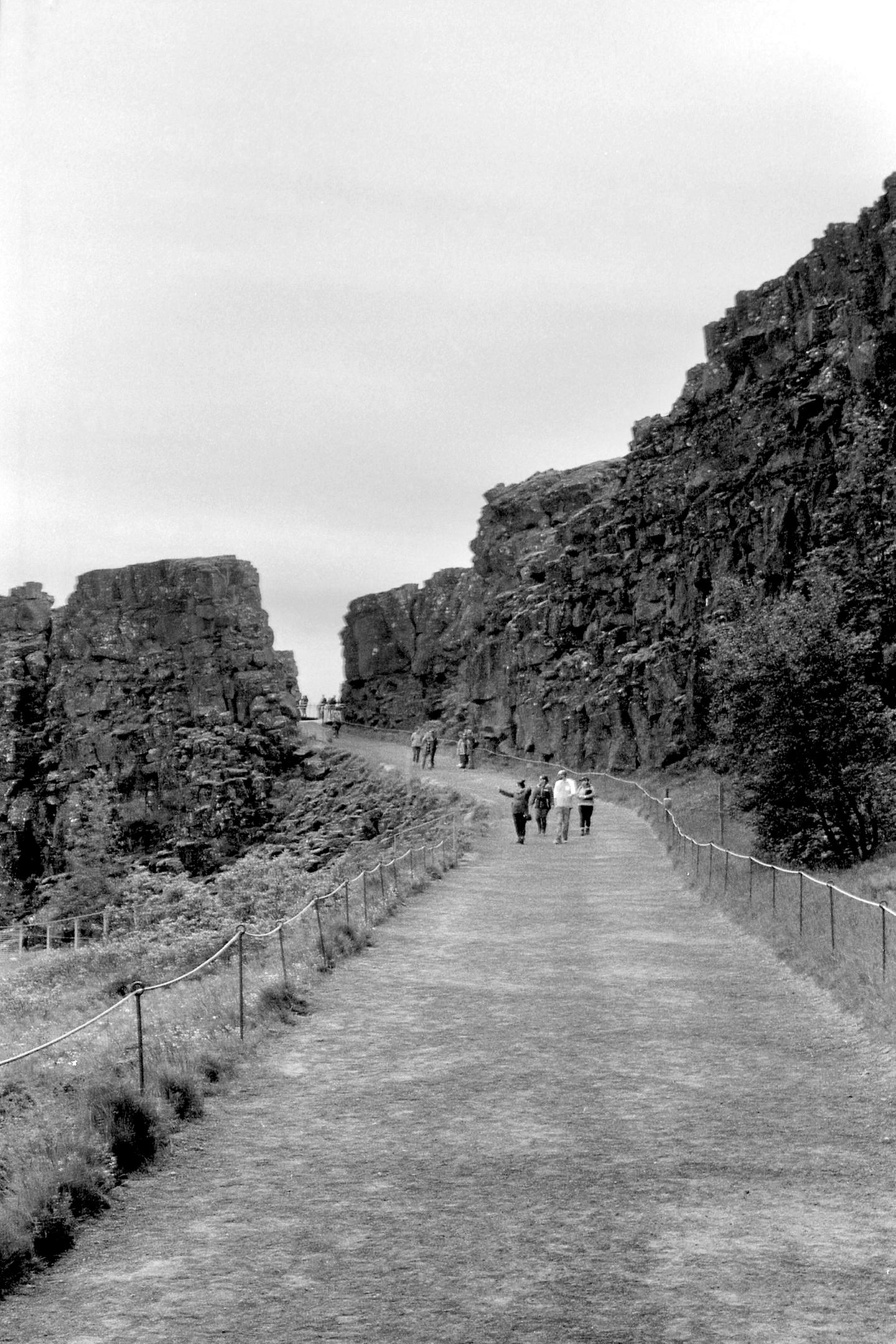 The Walk between Tectonic Plates, Iceland 2019   Edition 1 of 2