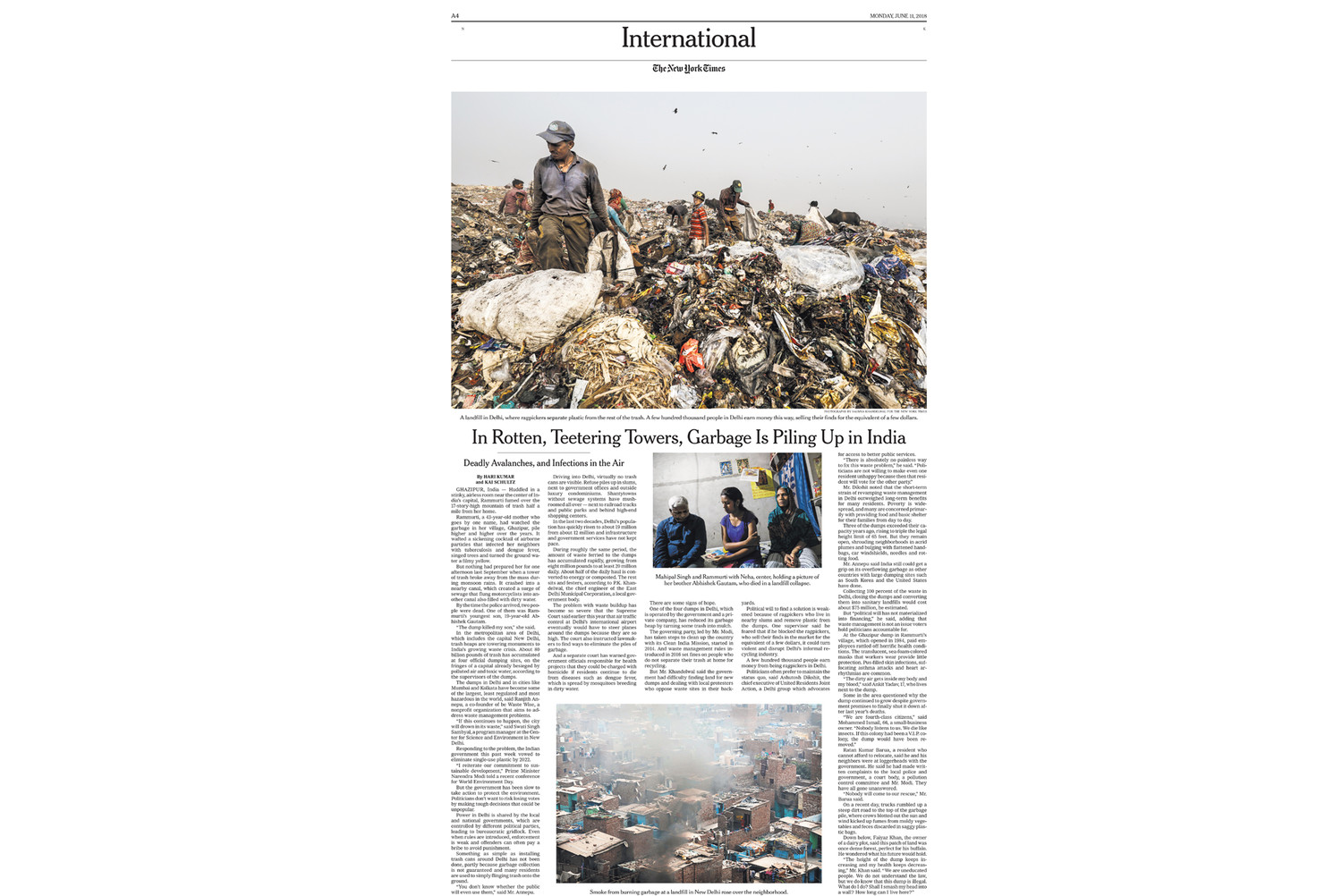 Garbage is piling up in India