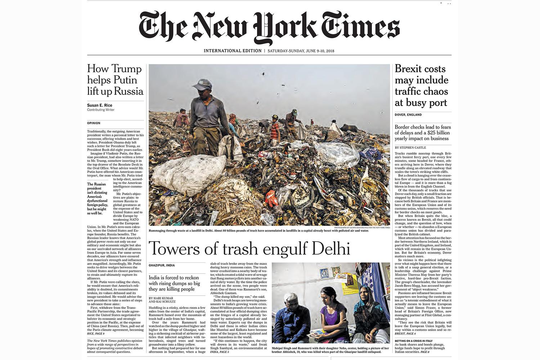 Towers of trash engulf Delhi