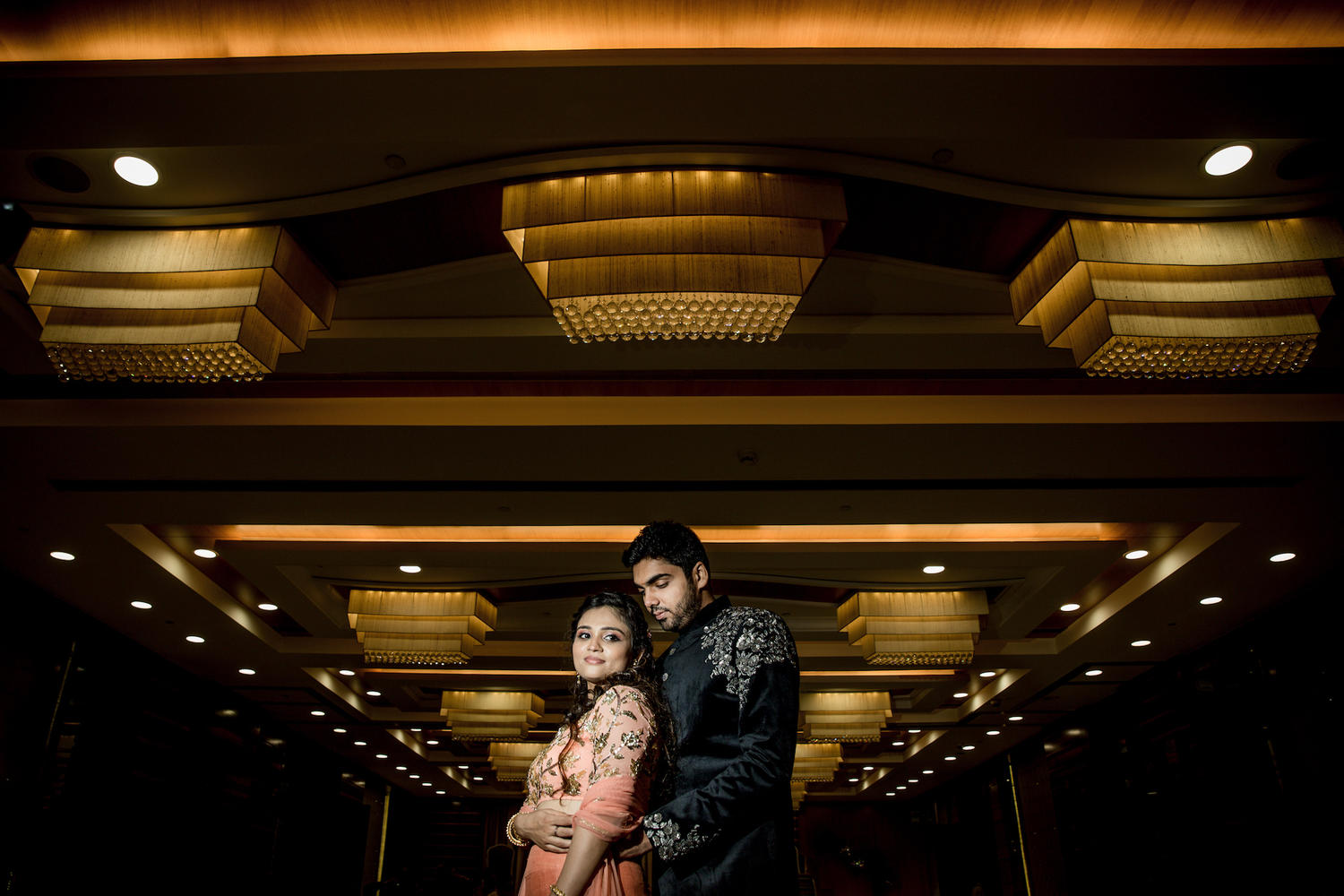 Mumbai wedding sangeet couple portrait