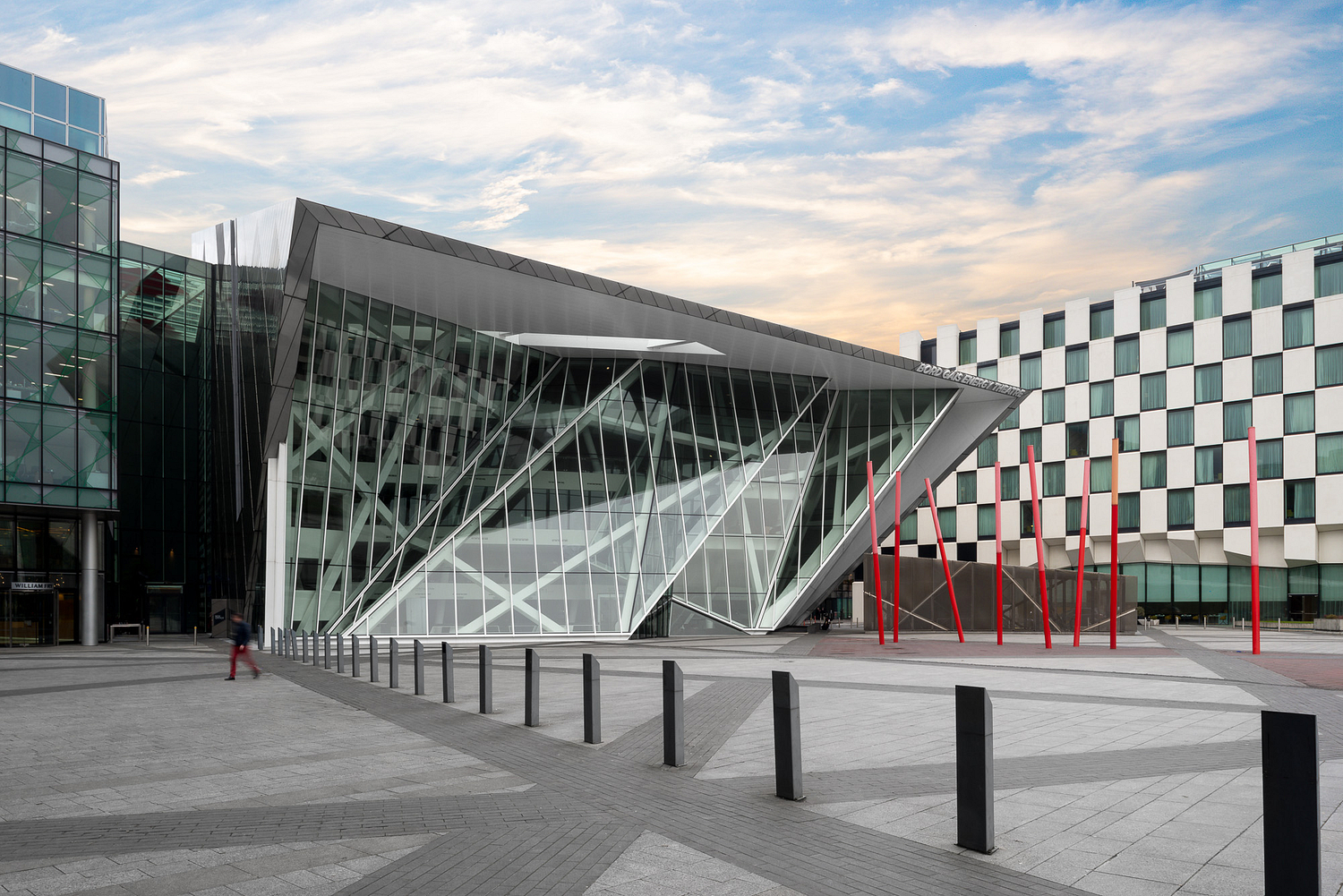 The Bord Gáis Energy Theatre designed by McCauley Daye O'Connell Architects in Dublin, Ireland
