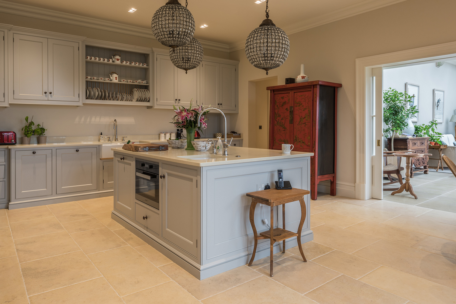 West Country kitchen with stone floor