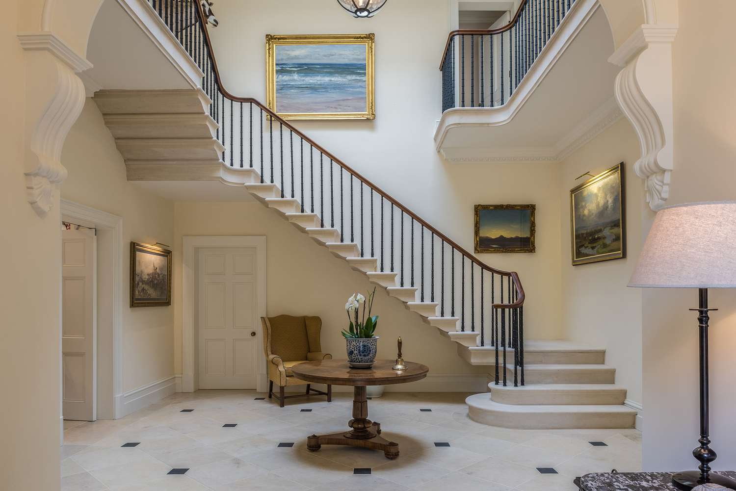 Stone staircase, West Country house