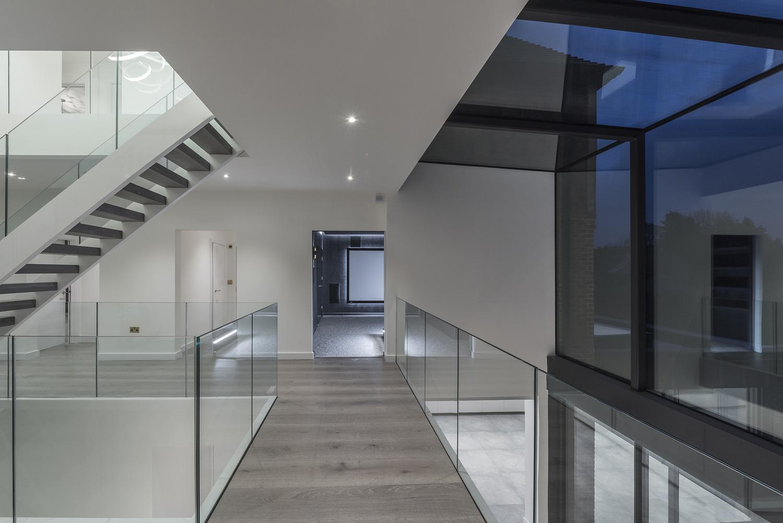 Glass ballustrades, Surrey house