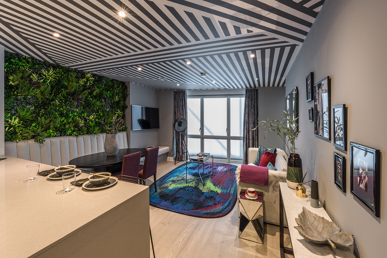 Showhome apartment with living wall, London