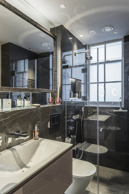 Compact bathroom detail, London